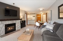 Whistler Vacation Rental Photos :: Living Room with Fireplace