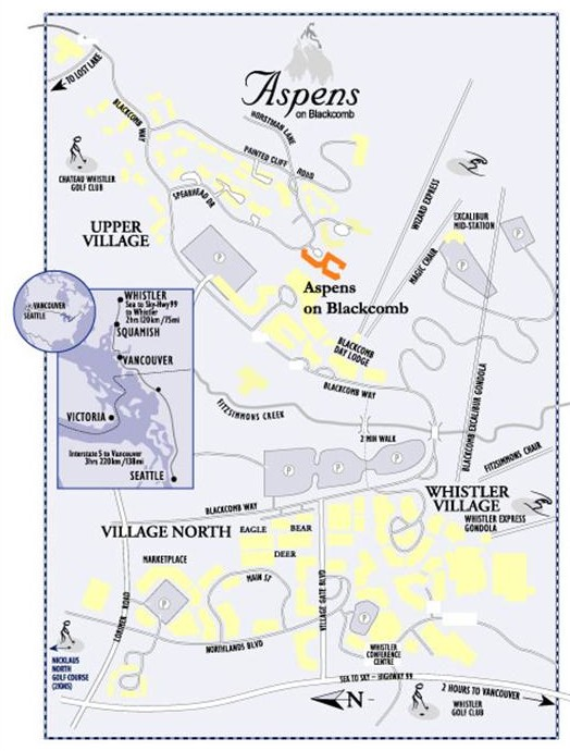 Whistler Aspens Vacation Rental by Owner Map